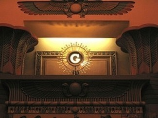 Symbol okrídleného slnka vnútri jednej Slobodomurárskej lóže