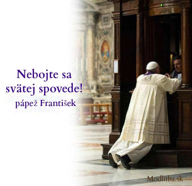 papež na spovedi