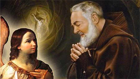 Padre Pio anjel strazny